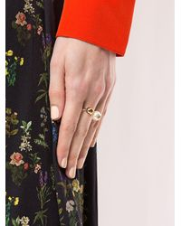 Tory Burch Multicolor Pearl Asymmetric Ring