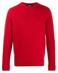 メンズ DSquared² クルーネック セーター Red