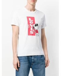 Levi's White X Peanuts Graphic T-shirt for men