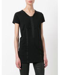 Rick Owens Drkshdw - Black Strap Detail T-shirt - Lyst