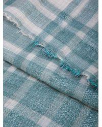 Brunello Cucinelli メタリック スカーフ Blue