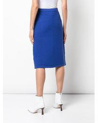 Victoria, Victoria Beckham スリムフィット ニットスカート Blue