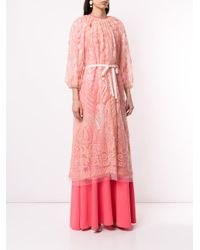 Manteau transparent à sequins Huishan Zhang en coloris Pink