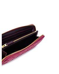 Bottega Veneta Multicolor Portemonnaie mit Intrecciato-Muster