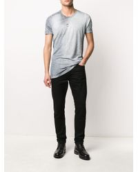 メンズ Avant Toi ロングライン Tシャツ Gray