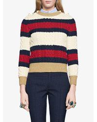 Gucci ケーブルニットセーター Multicolor