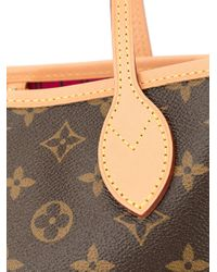 Louis Vuitton Brown Pre-owned Neverfull Pm Tote