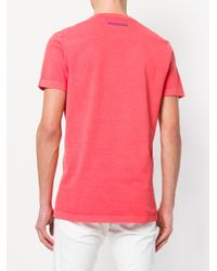 DSquared² Red Scout Print T-shirt for men