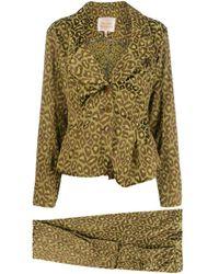 Костюм-двойка С Анималистичным Принтом Vivienne Westwood Pre-Owned, цвет: Green
