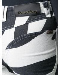 House Of Sunny Black Zebra Print Jeans