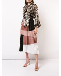 Nude - Brown Pleated Skirt - Lyst