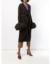 Cardigan long à poignets texturés Bottega Veneta en coloris Brown
