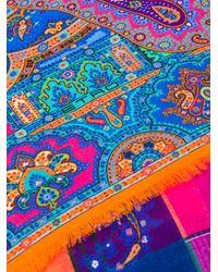 Etro Multicolor Pattern Design Scarf for men