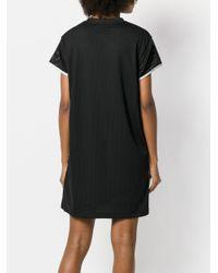 Nike Black Mesh Printed Logo Short Sleeved Dress