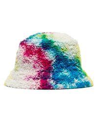 Sombrero de pescador con estampado tie-dye The Elder Statesman de hombre de color White