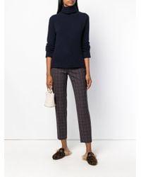 Piazza Sempione Brown Checked Trousers
