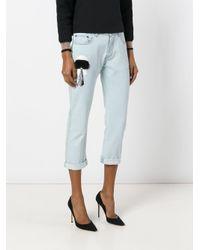 Fendi Blue Carlito Boyfriend Jeans