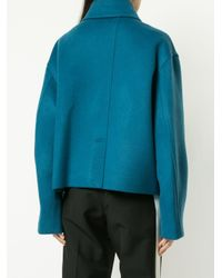 ADER ERROR Loose-fit Single Breasted Coat Blue