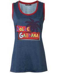 Canotta con stampa di Dolce & Gabbana in Blue