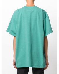 MM6 by Maison Martin Margiela - Green Printed T-shirt - Lyst