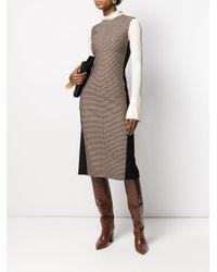 Victoria Beckham Black Kleid mit Karomuster