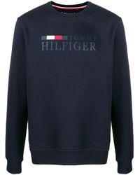 Tommy Hilfiger Sweatshirt mit Logo-Print in Blue für Herren