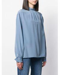 Blusa de manga larga Calvin Klein de color Blue