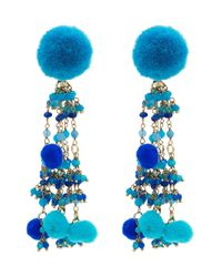 Rosantica - Blue Alchimia Earrings With Bead Embellishment - Lyst