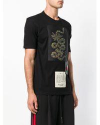 John Richmond Black Snake Print T-shirt for men