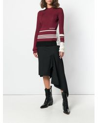 CALVIN KLEIN 205W39NYC Red Ribbed Sweater