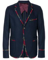 Gucci Blue Striped Trim Blazer for men