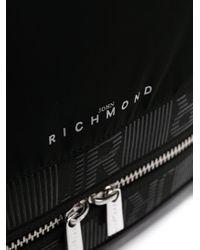メンズ John Richmond エンボスロゴ バックパック Black
