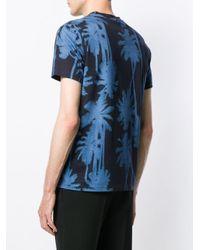 メンズ J.Lindeberg Silo プリント Tシャツ Blue