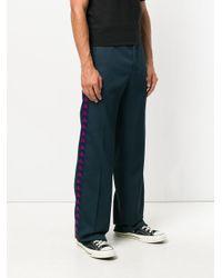 Faith Connexion Blue Wide Leg Trousers for men