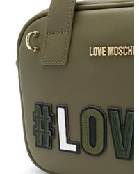 Love Moschino Green Compact Love Shoulder Bag