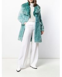 Elisabetta Franchi オーバーサイズ コート Blue