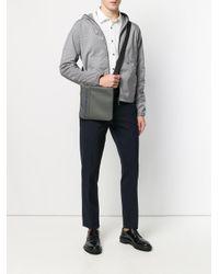 Emporio Armani Gray Logo Shoulder Bag for men