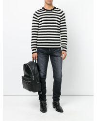 Узкие Джинсы С Протертостями Saint Laurent для него, цвет: Black