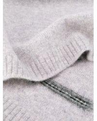 メンズ Pringle of Scotland ロゴ スカーフ Gray