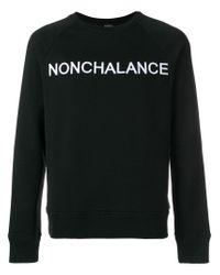 N°21 Black No21 Nonchalance Embroidered Sweatshirt for men
