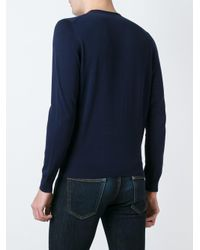 Drumohr - Black Crew Neck Jumper for Men - Lyst