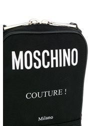 Bandolera con logo estampado Moschino de color Black