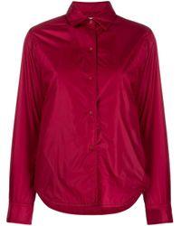 Aspesi Red Hemdjacke mit Druckknöpfen