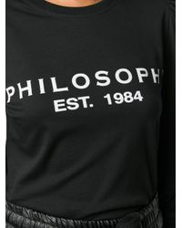 Philosophy Di Lorenzo Serafini ロゴ シャツ Black