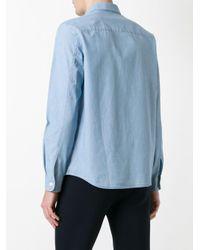 A.P.C. Blue Classic Shirt for men