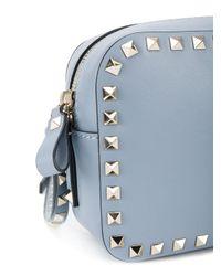 Valentino | Gray Garavani Rockstud Crossbody Bag | Lyst