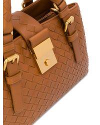 Bolso shopper de tejido intrecciato Bottega Veneta de color Brown