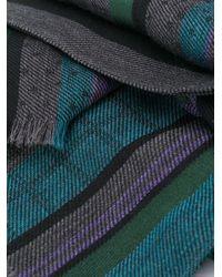メンズ Paul Smith コントラスト スカーフ Blue