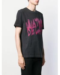 メンズ Off-White c/o Virgil Abloh ロゴプリント Tシャツ Multicolor