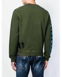 メンズ DSquared² ロゴ スウェットシャツ Green